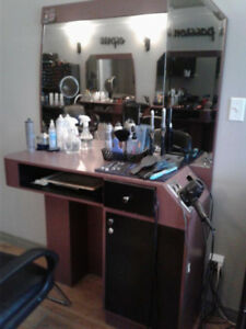 Hair Salon Stations, Aesthetic bed, nail desk, reception desk