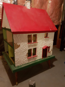 Old Doll house with lights and parts