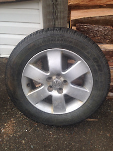 $500 obo - 4 winter tires on rims - 5 bolt Toyota Corolla rims