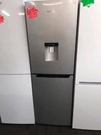 Silver hisense fridge freezer