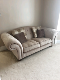 4 seater and 3 seater sofa
