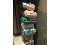 Various size nappies