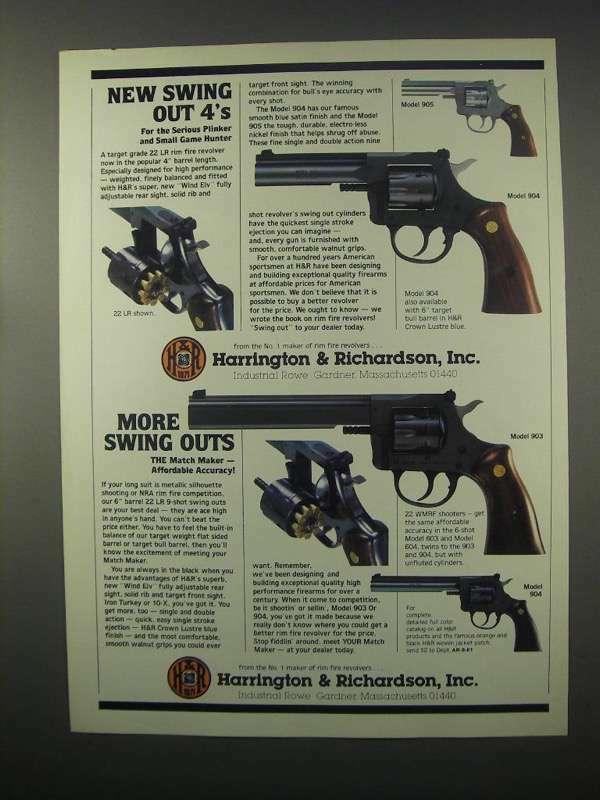 1981 H&R Model 905, 904, 903, Revolvers Ad