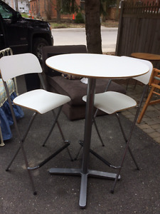 IKEA Table and Two Stools