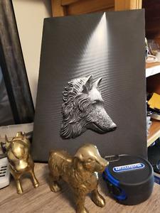BEAUTIFUL WOLF ART 3D CANVAS 10 X14