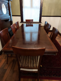Dining Table With 9 Chairs for Sale