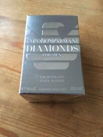 New boxed ARMANI Diamonds aftershave / eau de toilette