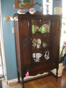 Vintage China Cabinet -- FROM PAST TIMES Antiques - 1178 Albert