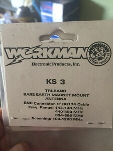 Workman KS 3 Tri-Band rare earth magnet mount antenna