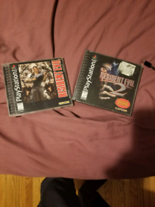 Resident evil 1 and 2 ps1 playstation