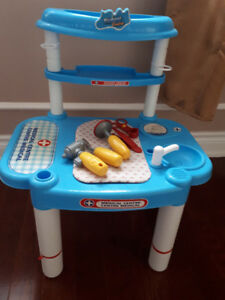 Medical -doctors station - play table for kids. Fun to play role
