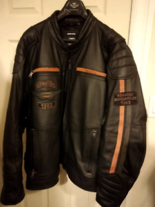 Harley mens leather jacket xxxl