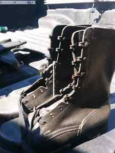 leather combat boots - army surplus - hiking