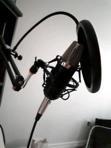 Neewer NW-700 + Audio Interface