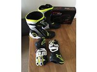 Alpinestars Boots & Matching Gloves.