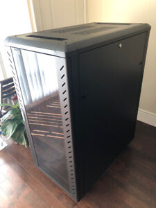 StarTech 25U 4-post Server Rack Cabinet with Casters