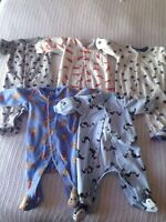 Boy 3 month sleepers. Carters.