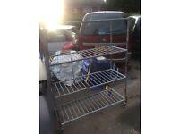 Metal rack on castors