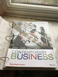 Contemporary Business: Second Canadian Edition