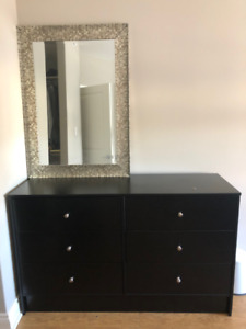 6 Drawers Dresser (Black)