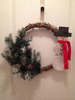 """Mr. Frosty"" Christmas Wreath"