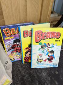 Job lot 98 Beano comics and books