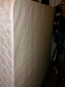 Box spring with metal bed frame
