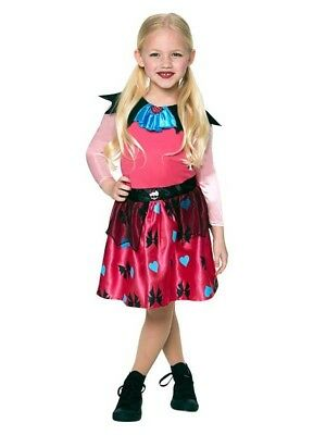 Girls Draculaura Monster High Fancy Dress Halloween Costume Vampire Dracula New