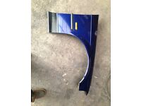 BMW e36 Montreal blue drivers side wing. Compact saloon touring