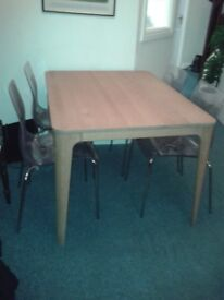 Stylish Mira Danish Solid Oak Dining Table Bought from John Lewis and still in store