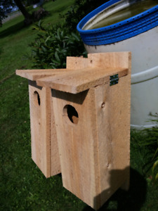 Wood duck nesting boxes