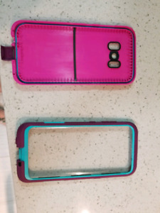 Samsung s8 case mint and pink
