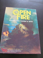 1987 Open Fire Solitaire Tank Combat WWII Game Victory Games