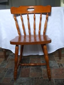 Colonial style wooden chair