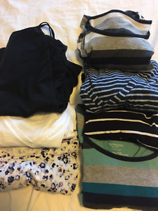 Lot of size small casual maternity shirts