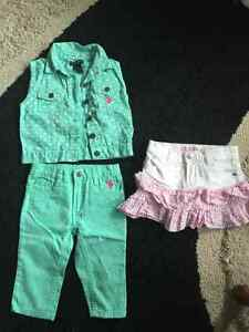 2T Polo Set and Guess Skirt