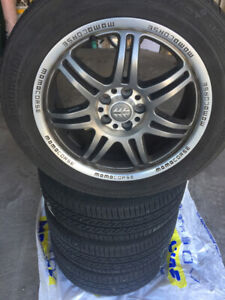Continental True Contact Tires 205/55 R 16 with MOMO CORSE RIMS