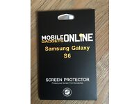 NEW SEALED Samsung Galaxy S6 x1 Pack Of x5 Screen Protectors Guard With Cloth & Soft Card Protection