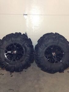 ATV tires and rims. Came off a Yamaha Grizzly