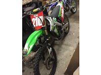 2010 track race ready kxf250 Moto X cross field bike