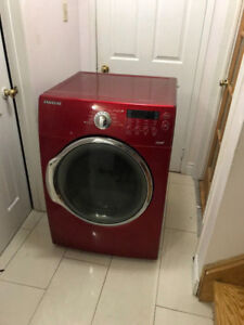Samsung like new Red Steam Front Load Dryer For Sale
