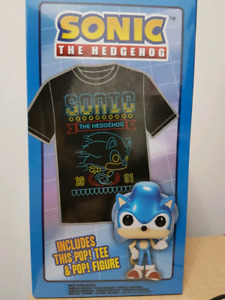 Sonic The Hedgehog Funko Pop and T-Shirt