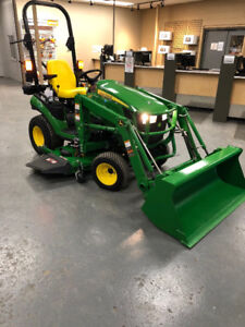 **Reduced** 2017 John Deere 1025R Tractor with Loader and Mower