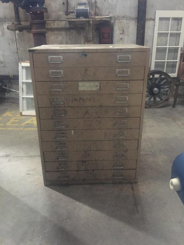 Vintage filing cabinet map blueprint home dcor accents description vintage cabinet map blueprint malvernweather Choice Image