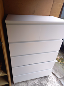 White Ikea Chest of 6 drawers