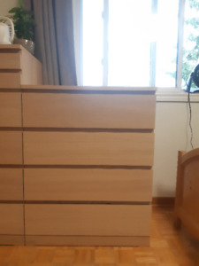 Dresser MALM  white stained oak