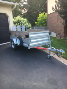 """4'1"""" x 8'6"""" (Extended) Utility/Quad/MCycle Trailer galvanized"""