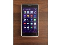 """Sony Xperia Z1. Water resistant with glass front and back. Camera 20.7 megapixel,5"""" screen 16GB"""
