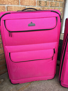 """Gorgeous """"Aviator"""" Pink Luggage. New, with tags still on!"""