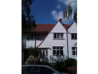 Large fully furnished double room available in large house. Quiet, leafy Acton, W3. 4 mins from tube